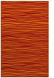 rug #463877 |  orange stripes rug