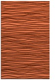 rug #463889 |  red-orange stripes rug