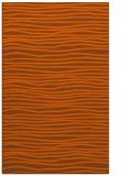 rug #463953 |  red-orange stripes rug