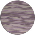 rug #464221 | round purple stripes rug