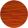 rug #464229 | round red-orange rug