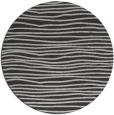 rug #464241 | round red-orange stripes rug
