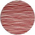 rug #464289   round red stripes rug