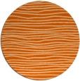 rug #464301   round red-orange stripes rug