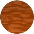 rug #464305   round red-orange stripes rug