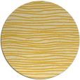 rug #464329 | round yellow stripes rug