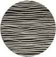rug #464349 | round black stripes rug