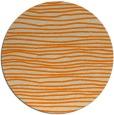rug #464357 | round orange stripes rug