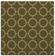rug #464865 | square mid-brown circles rug