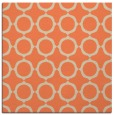 rug #464941 | square orange circles rug