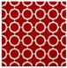 rug #464985 | square red circles rug