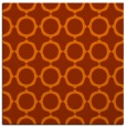 rug #465001 | square red-orange circles rug