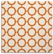 rug #465013 | square red-orange circles rug