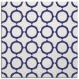 rug #465025 | square blue circles rug