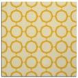 rug #465033 | square yellow circles rug