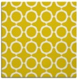 rug #465045 | square yellow circles rug