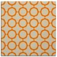 rug #465061 | square orange circles rug