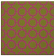 rug #465073   square light-green circles rug