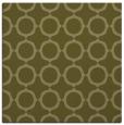 rug #465077 | square light-green circles rug