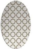 rug #465097 | oval white circles rug