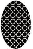 rug #465101 | oval white circles rug