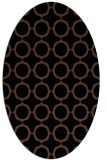 rug #465113 | oval brown circles rug