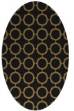 rug #465117 | oval black circles rug