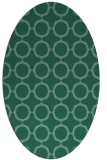 rug #465153 | oval blue-green circles rug
