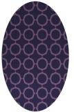 rug #465193 | oval purple circles rug