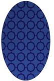 rug #465201 | oval blue-violet circles rug
