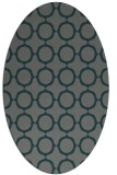 rug #465225 | oval green circles rug