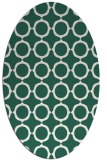 rug #465229 | oval blue-green circles rug
