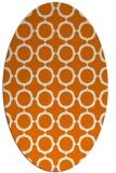 rug #465289 | oval orange circles rug