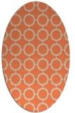 rug #465293 | oval orange circles rug