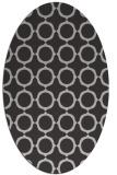 rug #465297 | oval red-orange circles rug