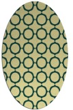 rug #465301 | oval yellow circles rug