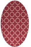rug #465313 | oval pink circles rug