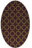 rug #465325 | oval green circles rug