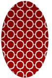 rug #465337   oval red circles rug