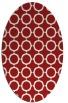 rug #465345 | oval red rug