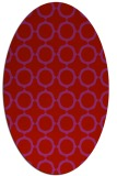 rug #465349 | oval red circles rug