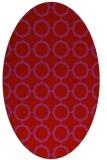 rug #465349 | oval red popular rug