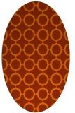 rug #465353 | oval red-orange circles rug