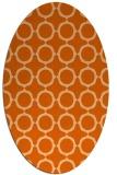 rug #465357 | oval red-orange circles rug