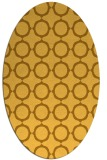 rug #465401 | oval yellow circles rug