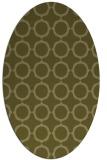 rug #465429 | oval light-green rug