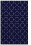 rug #465533    blue-violet circles rug