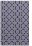 rug #465537 |  blue-violet circles rug