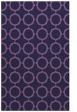rug #465545 |  blue-violet circles rug