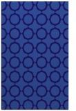 rug #465553 |  blue-violet circles rug